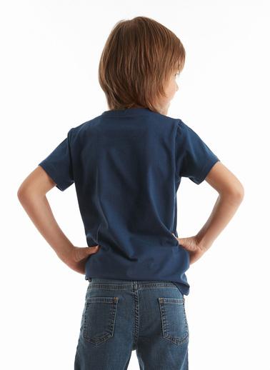 Mushi Robotic Erkek Çocuk T-Shirt Lacivert